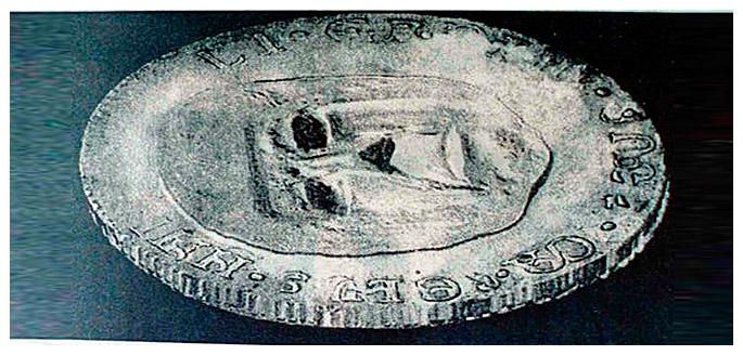 Монета найденая в пирамиде